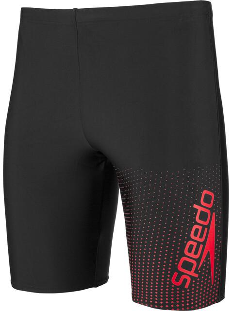 speedo Gala Logo Jammers Men, black/red